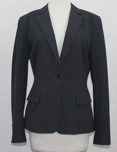 DKNY Dkny Charcoal Grey Classic One Button Blazer B53