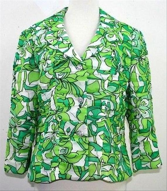 Other Michelle Antonelli Multi Chiffon Rhi Buttons B67 Green Jacket