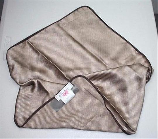 Other Giuntini Taupe Brown Cream Silk Scarf Bsm