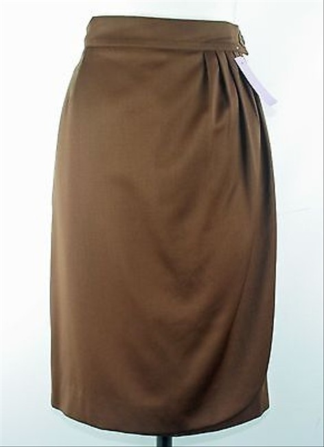 Dolce&Gabbana Cocoa Front Pleated Wrap B153 Skirt Brown