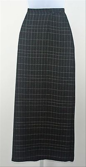 Other Garment Black White Long Wraparound B217 Skirt Multi-Color