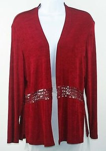 Amanda Lace And Sequin Embellished Traveler Knit Cardigan B205 Sweater