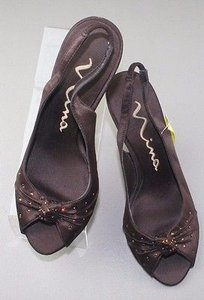 Nina Satin Copper Brown Sandals