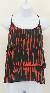 Other Treebarn Black Rust Spaghetti Strap Ruffle B334 Top Multi-Color