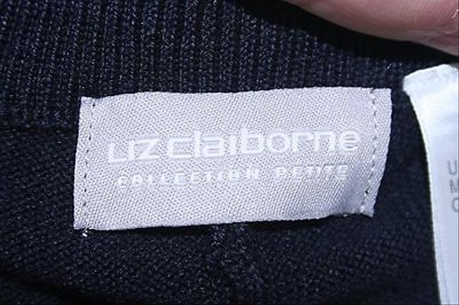 Liz Claiborne Petites Sp X 30 Navy Stretchy Trouser B265 Pants