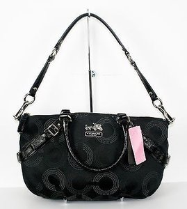 Coach Monogram 15935 Fabric Patent W Covertible Handle B285 Hobo Bag