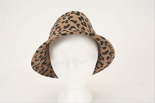 Chico's Chicos No Brown Black Animal Print Hat B275