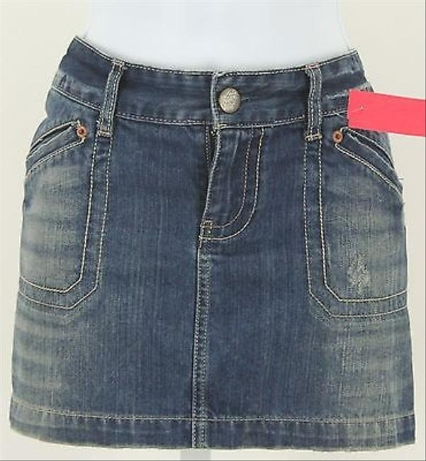 American Eagle Outfitters Lightly Distressed Mini Denim B335 Mini Skirt
