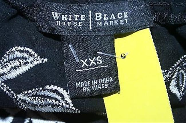 White House | Black Market Embroidered Ss B251 Top Multi-Color