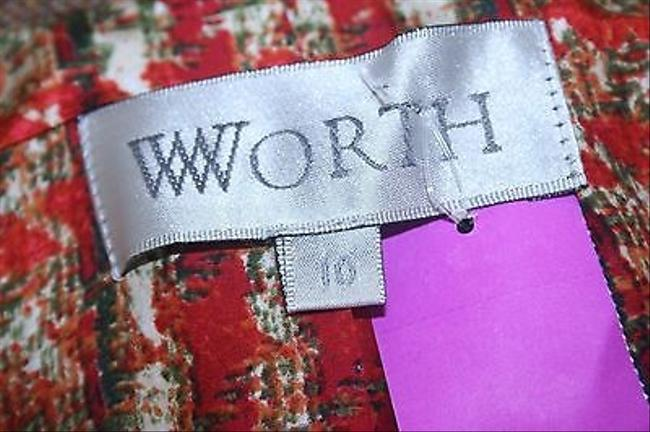 Worth Worth Brown Rust Multi Tweed Applique Trim Silk Lined Blazer B176