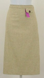 Worth Linen Blend Skirt Buttercup