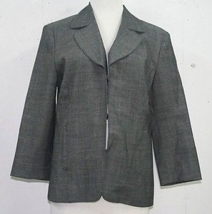 Chico's Chicos 1.5 Grey Hook Closure 34 Sleeve Summer Blazer B80