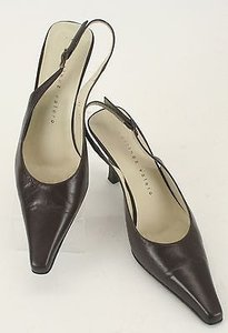 Martinez Valero Leather Brown Pumps