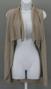 Ellen Tracy Taupe Sleeveless Sweater