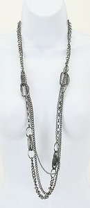 Other Gunmetal Chains Fashion Necklace Bj01