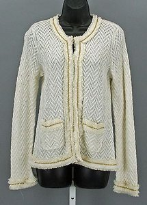 Chico's 0 Golf Chain Trim Cardigan B284 Sweater
