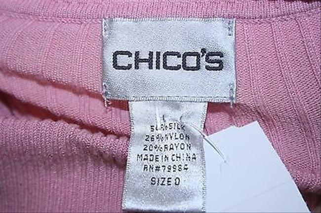 Chico's 0 Long Sleeve Turtleneck B288 Top Pink