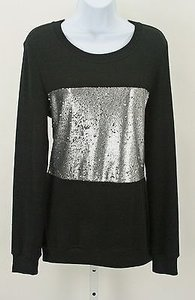 Homage Silver Sequin Long Sleeve B279 Sweater