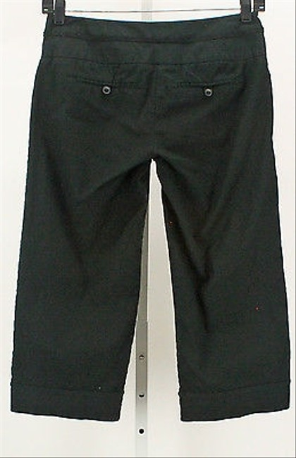 Other Stoosh Casual X Crochet Rolled Carpi B342 Capri/Cropped Pants Black