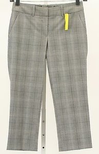 H&M H X 23 Taupe Blue Tan Plaid Capri B342 Capri/Cropped Pants