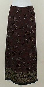 Jones New York Burgundy Black Skirt