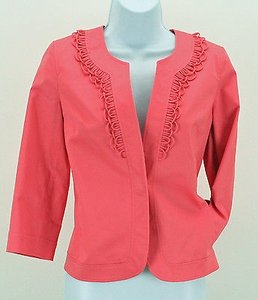 Talbots Talbots 4p Coral One Button Loop Detail Blazer B349