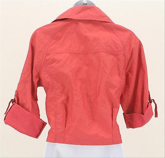CAbi 34 Sleeve Zip Front Womens B349 Coral Jacket