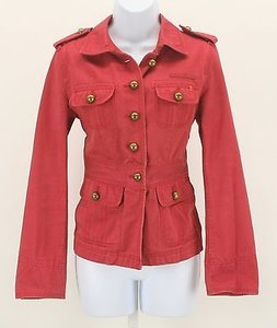J.Crew Brass Buttons Epaulets B349 Red Jacket