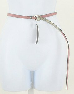 Lucky Brand Lucky Pink Silver Suede Skinny Belt B179