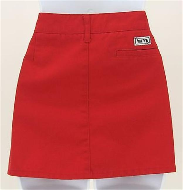 Hurley Schoolgirl Mini With Pockets B338 Skirt Red