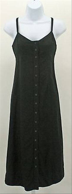 New York & Company short dress Black Linen Blend Adjustable Strap Sun B36 on Tradesy