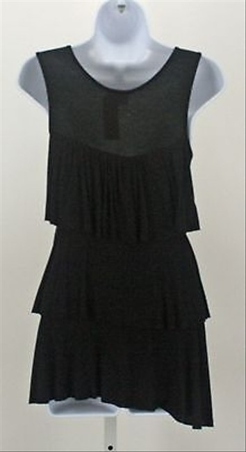 Ventti Layered Ruffle B127 Top Black