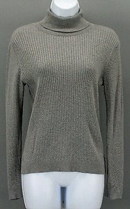 Chico's 0 Long Sleeve Turtleneck B288 Top Gray