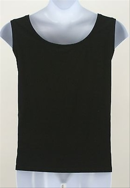 Other Me 3x Silver Sequin Sleeveless B347 Top Black