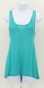 Color Story Mesh Strap Top Aqua