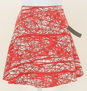 Other Club Soda Reddish White A Line Mini B333 Skirt Orange