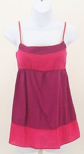 Kirra Pink Orange Color Block Adjustable Spaghetti Strap B176 Top Multi-Color