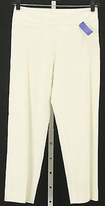 Other Luxe Eleven Cream Inseam 27 Linen Blend Crop Capri B334 Capri/Cropped Pants