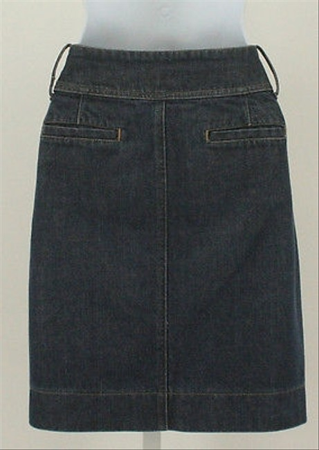 New York & Company Jeans Denim With Front Pleat B337 Skirt