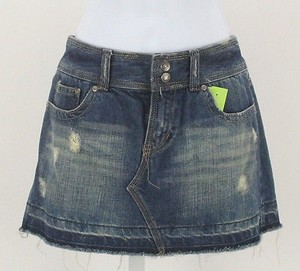 Aéropostale 56 Denim Distressed Frayed Mini B337 Skirt