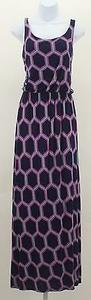 Multi-Color Maxi Dress by Other Fantastic Fawn Navy Pink Aqua Sleeveless Maxi B357