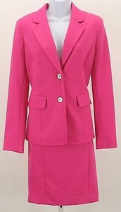 Jones New York Jones York Azalea Pink Silver Skirt Suit B311