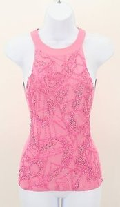 Milano Moda Front Beaded Top Pink