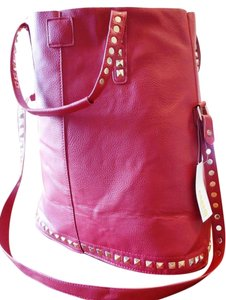 Studded Tote in Red
