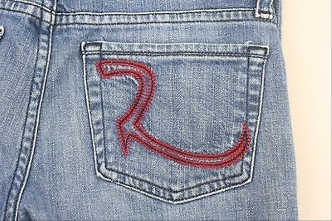 Rock & Republic 25 X 35 Denim With Red Stitching B226 Skinny Jeans