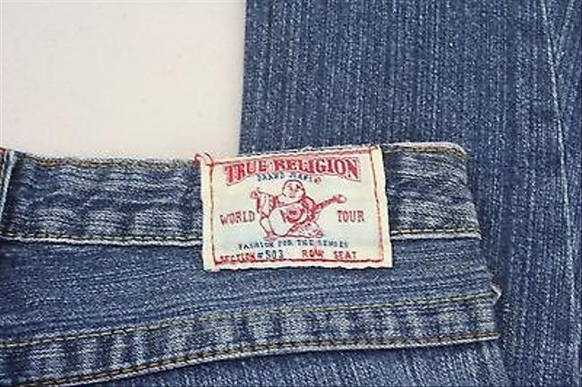 True Religion 25 X 32 Distressed Ripped B229 Boot Cut Jeans