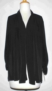 Ellen Tracy Draped Ruched Sleeve Cardigan B01 Sweater