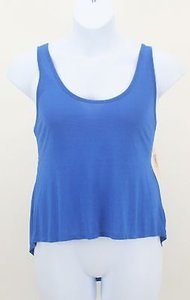 Decree Open Butterfly Back Hi Lo B39 Top Royal Blue