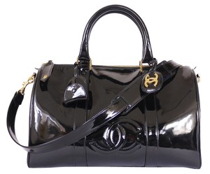 Chanel Vintage Duffel Satchel in Black