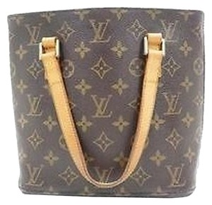 Louis Vuitton Leather Shoulder Tote in Monogram